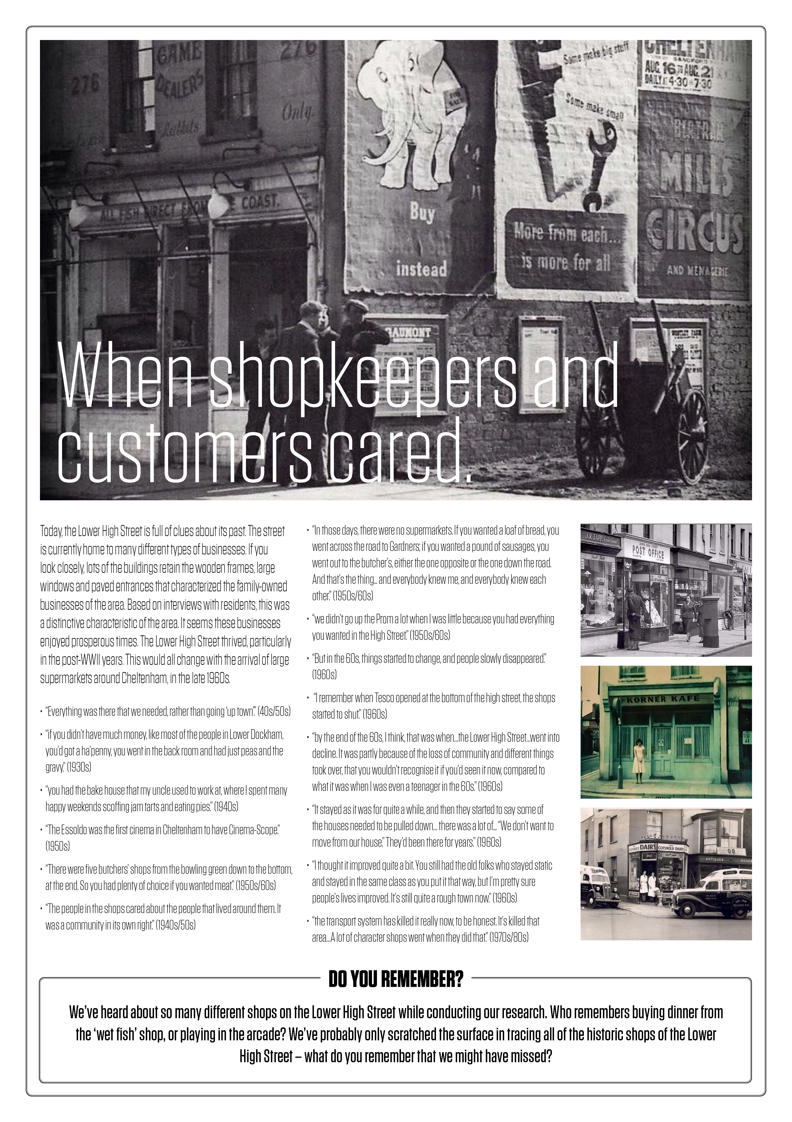 No.3 Shopkeepers A1 Poster Layup